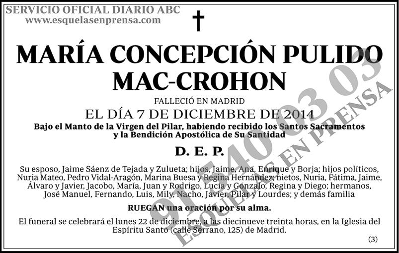 María Concepción Pulido Mac-Crohon